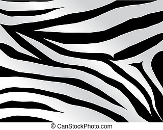 tiger design in black - Vector black and white stripped...