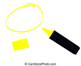 Highlighter pen with lid and shape, blank - Highlight your...