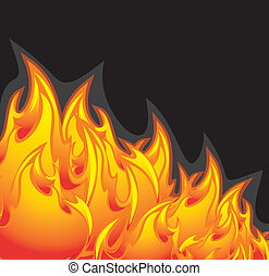 Fiery abstract background. Vector illustration