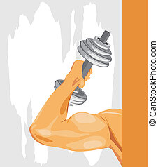 Bodybuilding. Sport background. Vector illustration