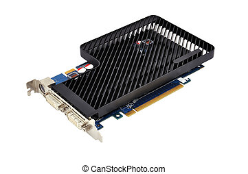 video card - graphics card on a white background