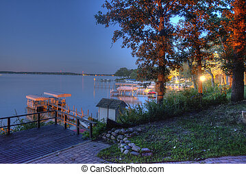 Lake Okoboji at Night