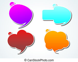 abstract colorful callout shape vector illustration