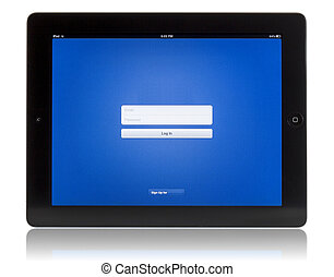 Login screen on tablet pc - Login with my digital tablet on...