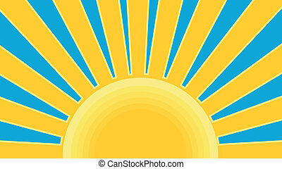 Sunburst Retro - Illustration of a sunburst done in retro...