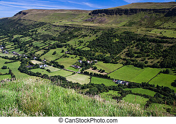 Irish Glen - View down into Glenariff from the mountain top...
