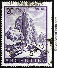 ARGENTINA - CIRCA 1955: a stamp printed in the Argentina...