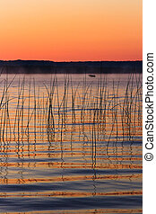 Platte Lake Dawn - Michigan's Platte Lake photographed just...