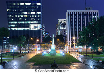 Downtown Columbia, South Carolina - Night cityscape of...