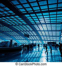 motion traveler - passenger in the shanghai pudong...