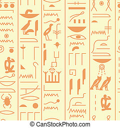 Seamless vector hieroglyph - EPS10 file. Seamless vector...