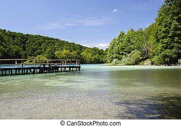 Plitvicka Jezera National Park (Croatia) - pier at plitvicka...