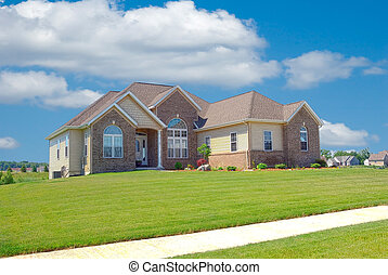 Suburban Home - A beautiful brick home in the suburbs in...