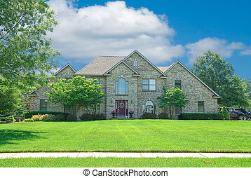 Brick Suburban Home - Suburban Home - A beautiful brick home...