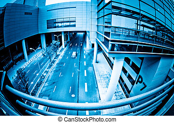 street of shanghai airport.