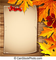 Autumn background - Beautiful background with autumn leaves...