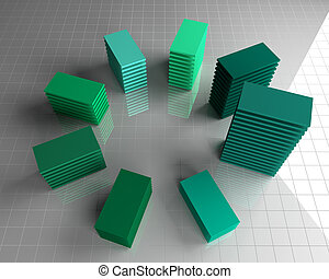 abstract green chart