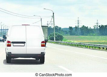 logistics - commercial car in highway