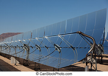 A solar power plant in the California Desert - Solar...