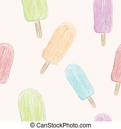 Popsicle Pattern - A seamless pattern of 5 different colors...