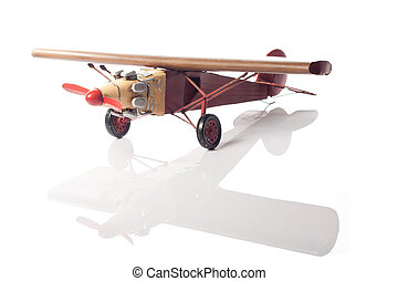 The green airplane - A green model of an old airplane