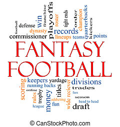 Fantasy Football Word Cloud Concept with great terms such as...