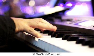 Piano Playing No. 02 - Hand playing Piano