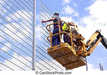 construcción, trabajadores