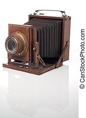 Old camera - An old camera with a white background