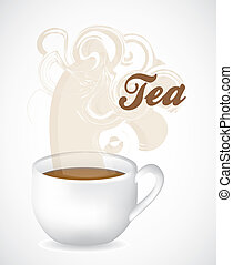 Cup of steaming tea - Illustration of a cup of steaming tea...