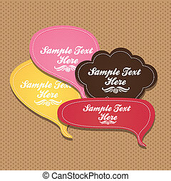 text ballons - illustration of text balloons with leather...