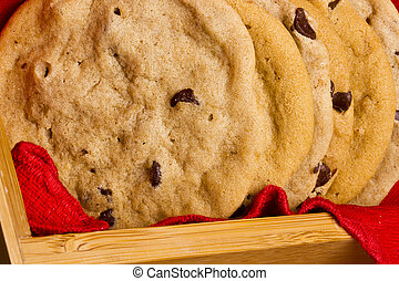 Chocolate Chip Cookies - Close-up photograph of chocolate...