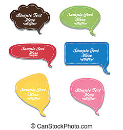 text balloons - illustration of text balloons with leather...