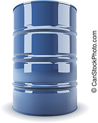 Standard metal barrel - Blue standard metal barrel isolated...