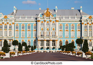 The Catherine Palace - the summer residence of the Russian...