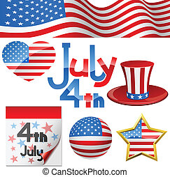 July 4th Independence Day symbols