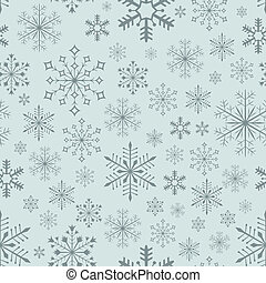 Abstract seamless bluish snowflake vector background