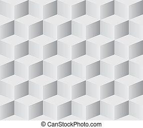 Seamless 3D cubes pattern