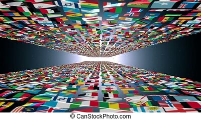 Carpet of World Flags universe