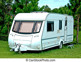 The Camping or caravan car