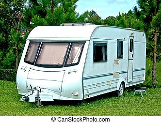 The Camping or caravan car