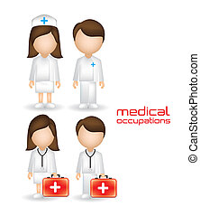 People in the health sector - illustration of people in the...