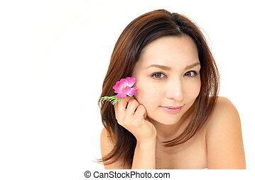 The beautiful Japanese woman