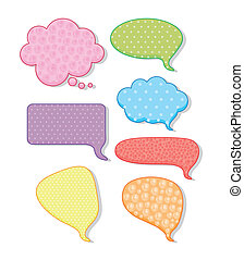 colored text balloons - illustration of text balloons...