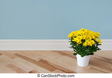 Yellow daisies decorating a room - Bright yellow daisies in...