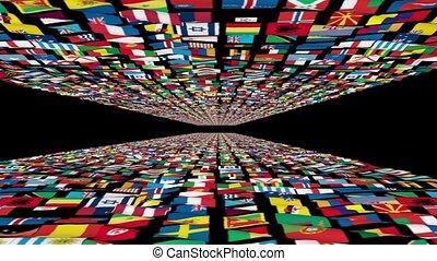 Carpet of World Flags, loop