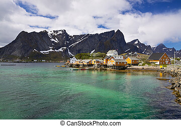 Village Sakrisoy on Lofoten - Traditional fishing village...