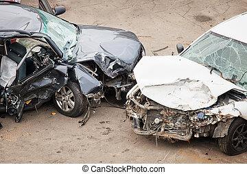 crashed cars - The image of crashed cars