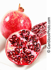 Pomegranate on plate