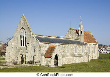 Royal Garrison Church, Portsmouth - Ruins of the Royal...